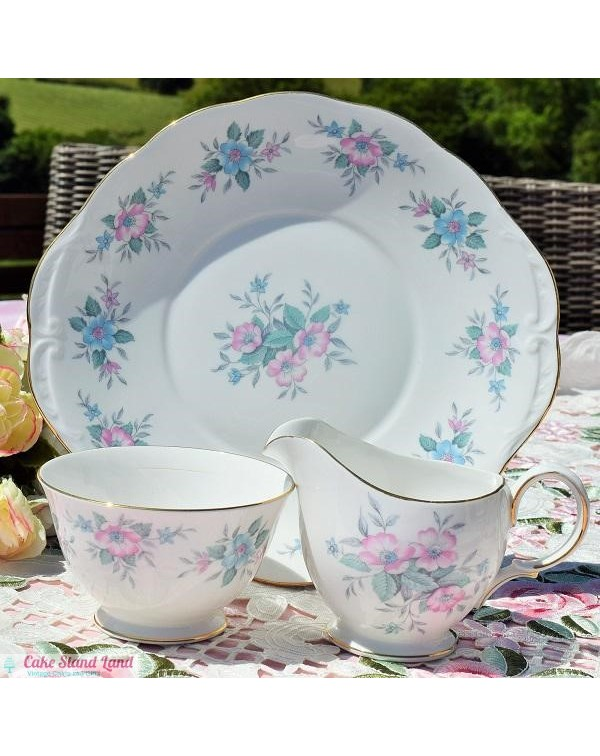 (OUT OF STOCK) GAINSBOROUGH BLUE ROSES CAKE PLATE ...