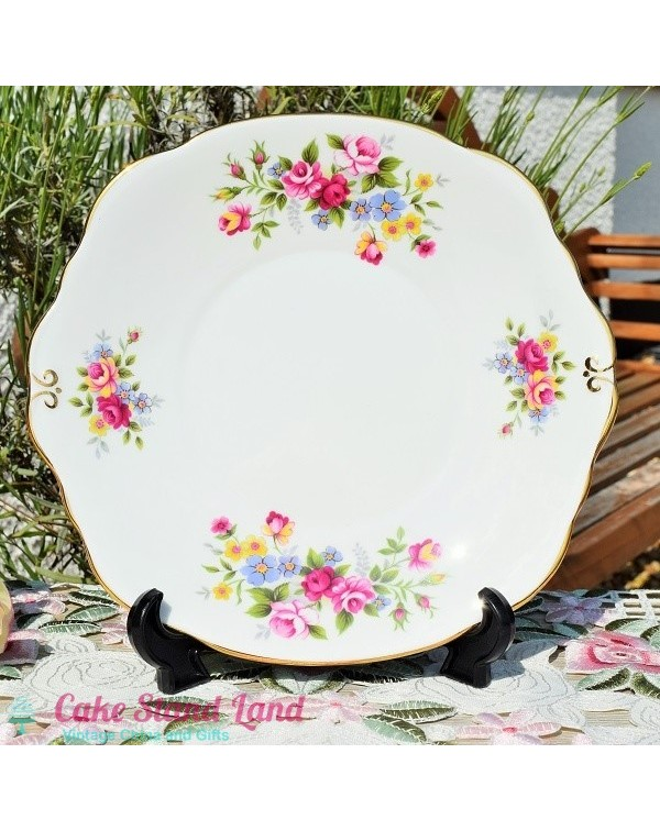 DUCHESS FLORAL CAKE PLATE