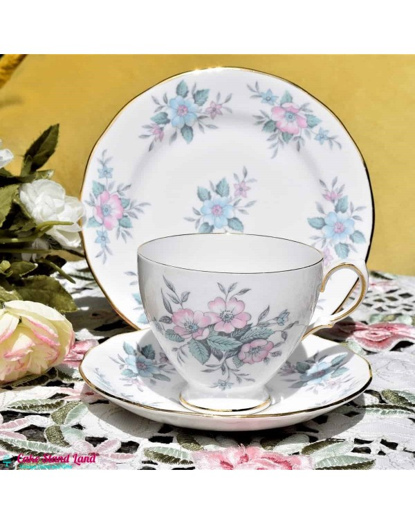 COLCLOUGH COPPELIA TEA TRIO