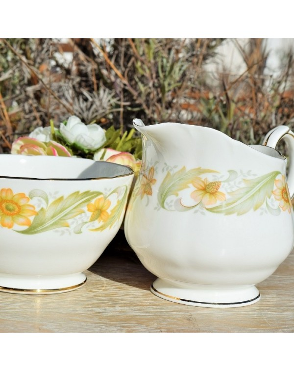 DUCHESS GREENSLEEVES MILK JUG & SUGAR BOWL