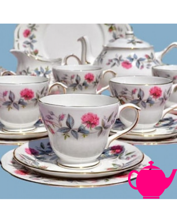 (coming soon) DUCHESS BRAMBLE ROSE TEA SET WITH TE...
