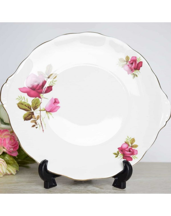 (OUT OF STOCK) ELIZABETHAN ROSE CAKE PLATE