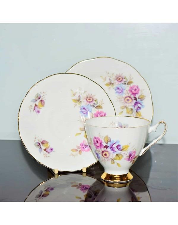 ELIZABETHAN FLORAL TEA TRIO