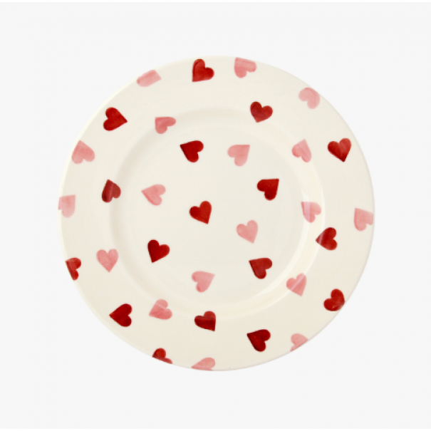 (OUT OF STOCK) EMMA BRIDGEWATER HEARTS DINNER PLATE