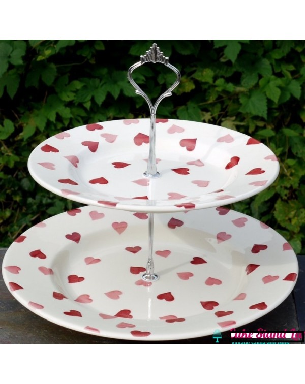 (OUT OF STOCK) EMMA BRIDGEWATER PINK HEARTS CAKE S...