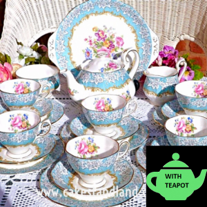 ROYAL ALBERT ENCHANTMENT TEA SET WITH TEAPOT