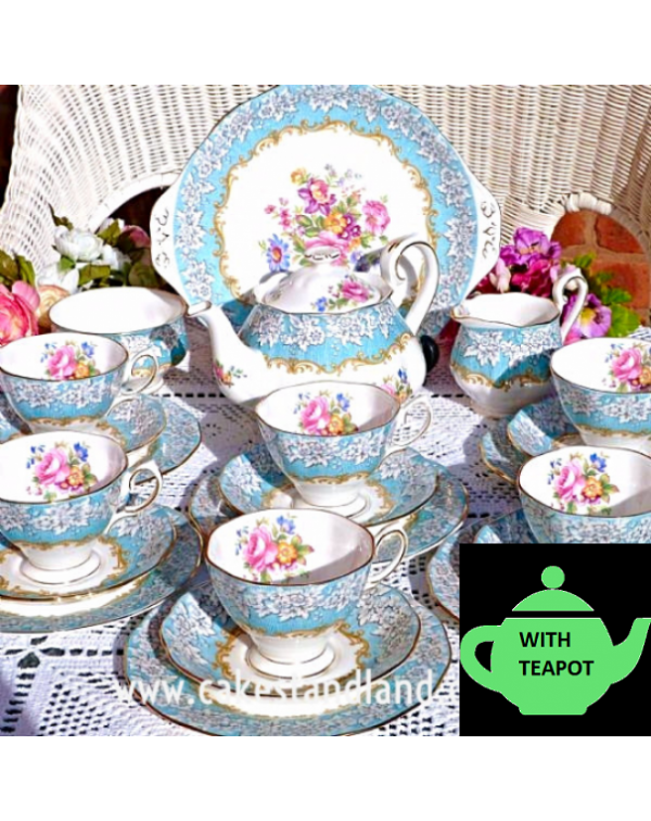 ROYAL ALBERT ENCHANTMENT TEA SET WITH TEAPOT