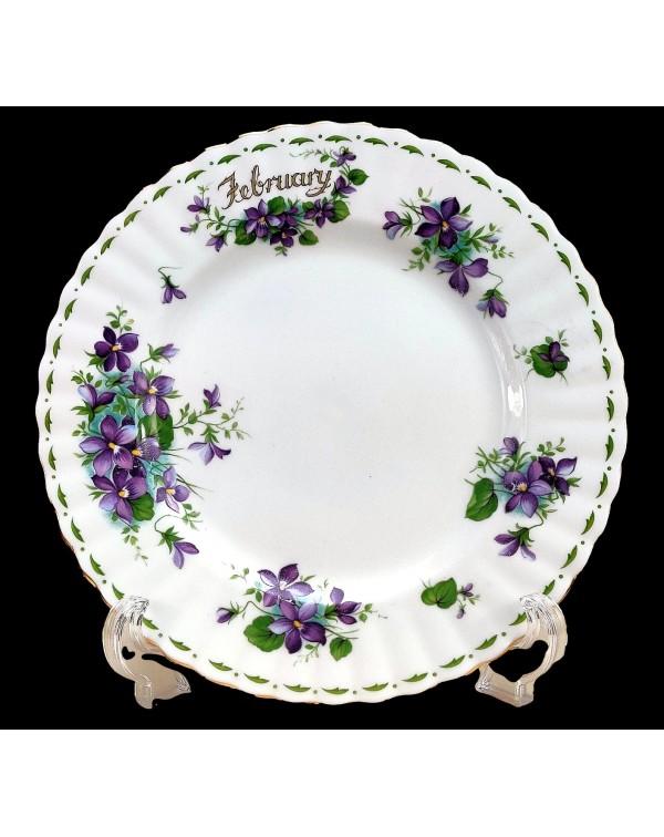 ROYAL ALBERT FLOWERS OF THE MONTH DINNER PLATE