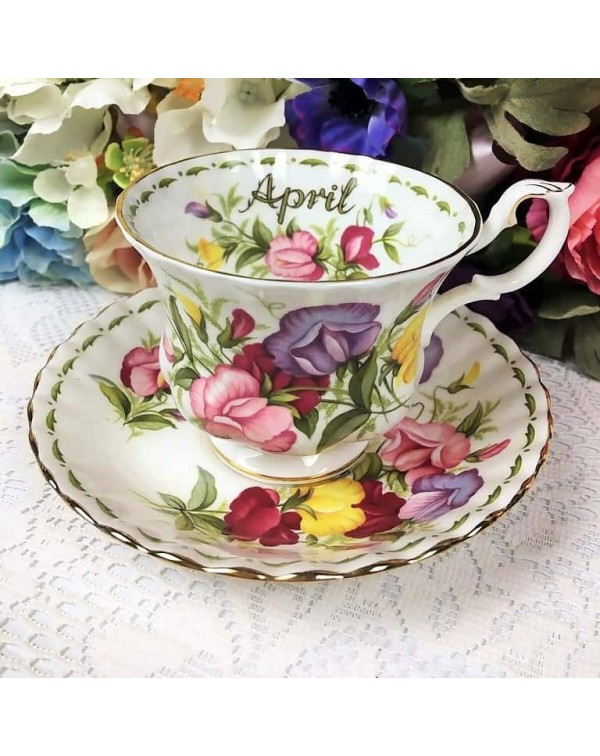 ROYAL ALBERT FLOWER OF THE MONTH CUP & SAUCER ...