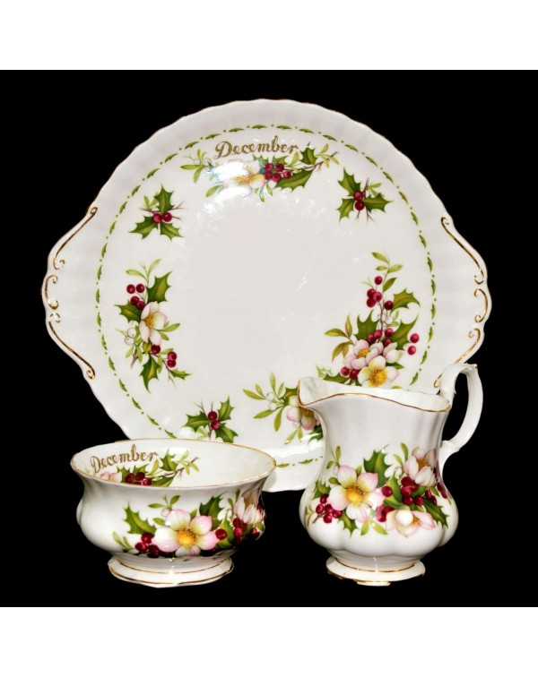 (SOLD) ROYAL ALBERT FLOWERS OF THE MONTH DECEMBER ...
