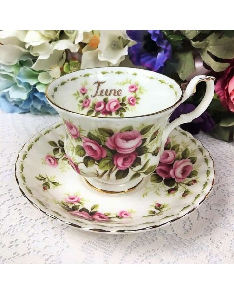 ROYAL ALBERT FLOWERS OF THE MONTH 36 PIECE TEA SET