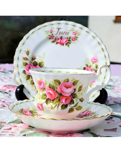 (OUT OF STOCK) ROYAL ALBERT FLOWER OF THE MONTH TRIO JUNE