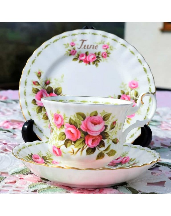 ROYAL ALBERT FLOWER OF THE MONTH TRIO JUNE
