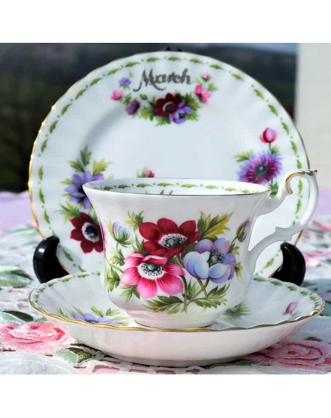 (OUT OF STOCK) ROYAL ALBERT FLOWER OF THE MONTH TRIO MARCH