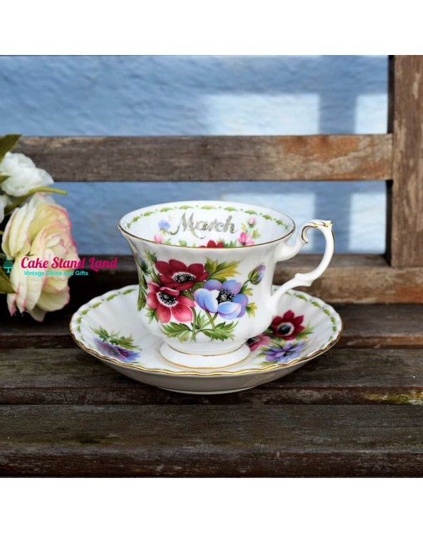 ROYAL ALBERT FLOWER OF THE MONTH MARCH CUP & S...