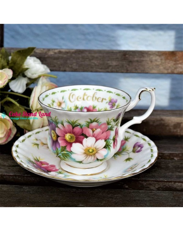 ROYAL ALBERT FLOWER OF THE MONTH OCTOBER CUP &...