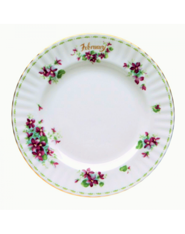 ROYAL ALBERT FLOWERS OF THE MONTH DINNER PLATE