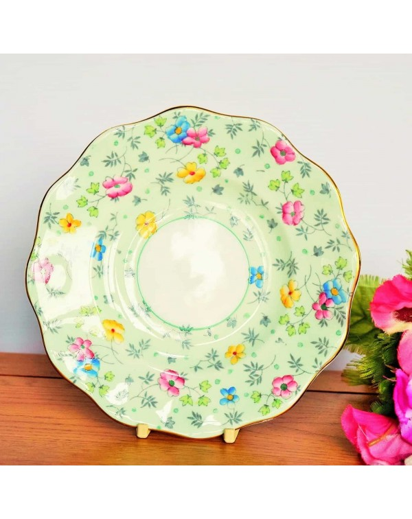 (SOLD) FOLEY GREEN CHINTZ TEA PLATE