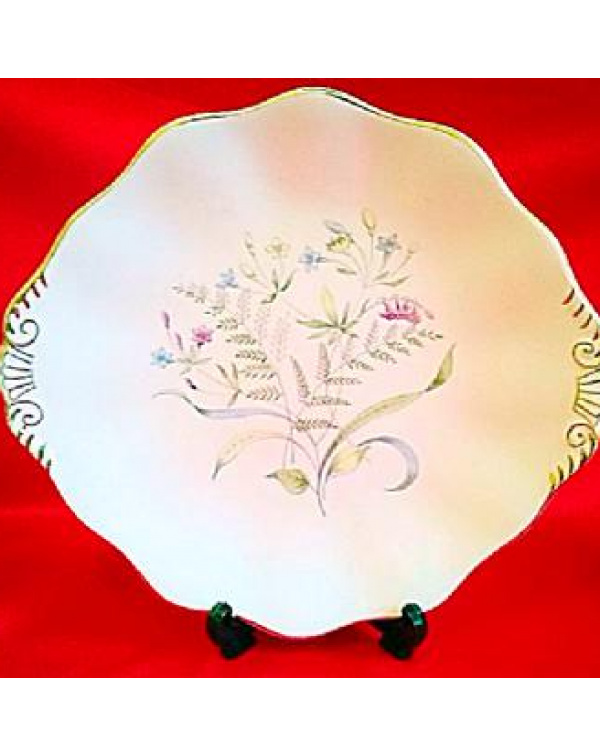 FOLEY FLORAL DANCE CAKE PLATE