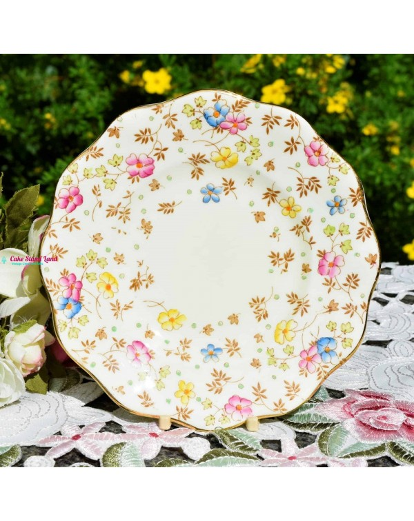 (SOLD) FOLEY TEA PLATE CHINTZ PATTERN