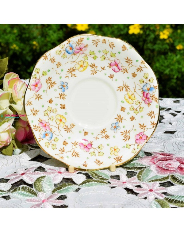 (SOLD) FOLEY TEA SAUCER CHINTZ PATTERN