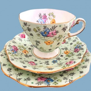 FOLEY CHINTZ TEA TRIO