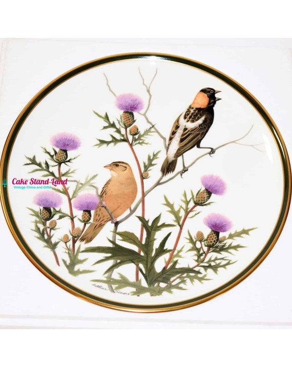 FRANKLIN MINT SONGBIRDS OF THE WORLD BOBOLINK