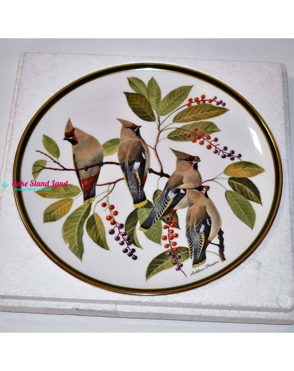 FRANKLIN SONGBIRDS OF THE WORLD PLATE WAXWING