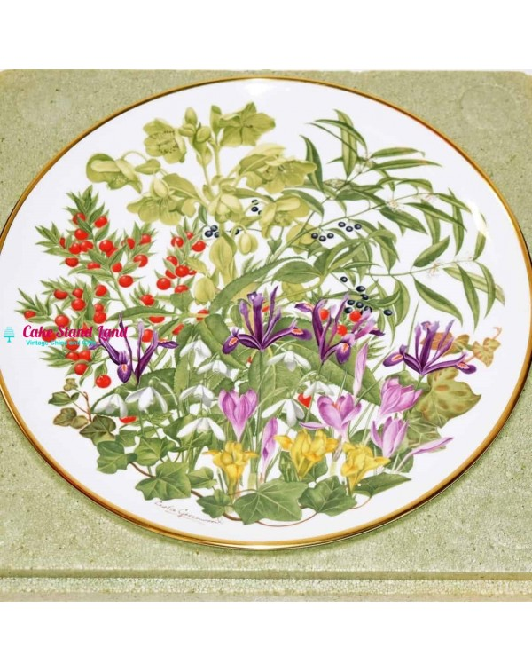 FRANKLIN MINT FLOWERS OF THE YEAR PLATE FEBRUARY