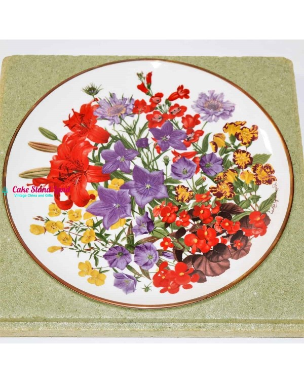 FRANKLIN MINT FLOWERS OF THE YEAR PLATE JULY