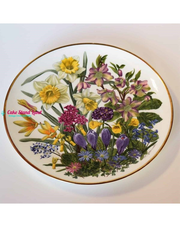 FRANKLIN MINT FLOWERS OF THE YEAR PLATE MARCH