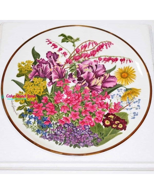 FRANKLIN MINT FLOWERS OF THE YEAR PLATE MAY