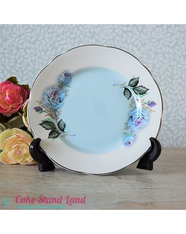 GLADSTONE BLUE ROSE TEA PLATE