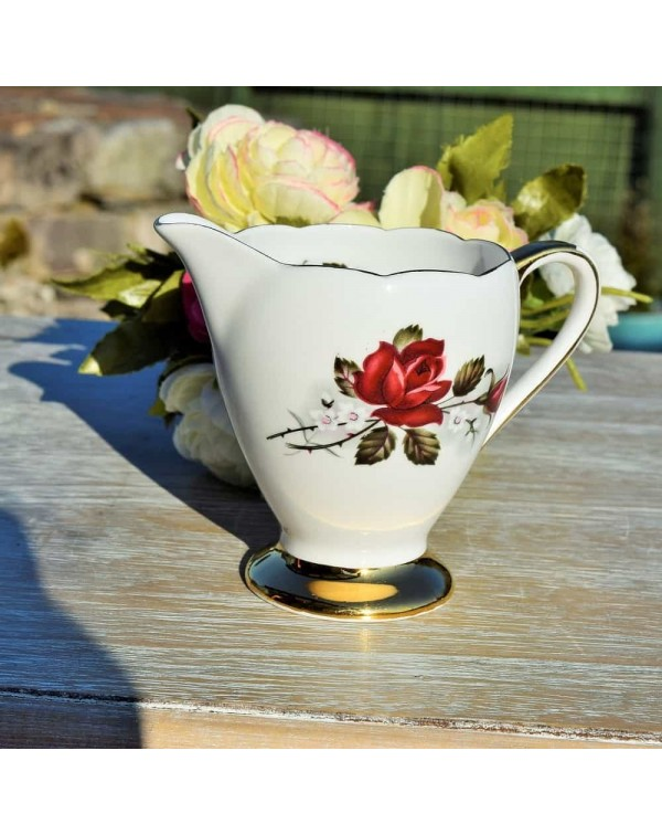 GLADSTONE RED ROSE MILK JUG