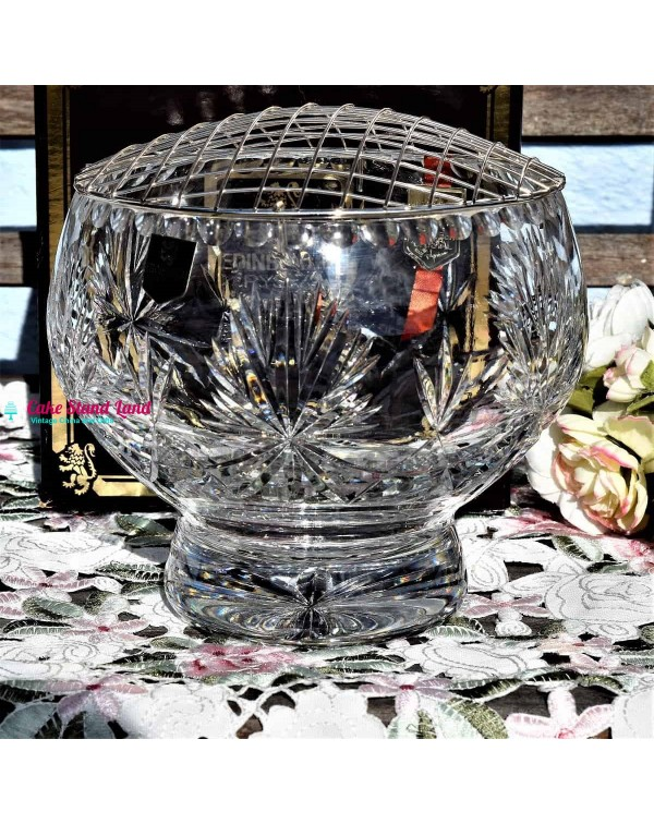 EDINBURGH CRYSTAL ROSE BOWL