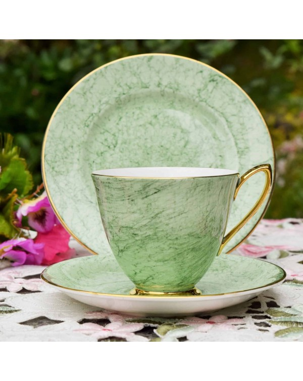 ROYAL ALBERT GOSSAMER GREEN TEA TRIO