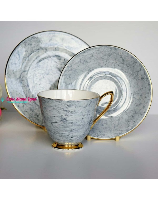 ROYAL ALBERT GOSSAMER LILAC TEA TRIO