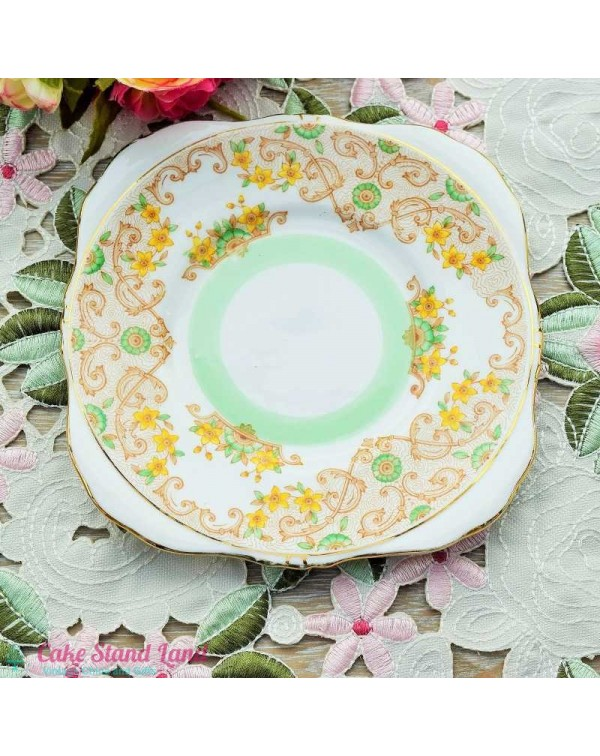 (OUT OF STOCK) GRAFTON PIRSHORE FLORAL TEA PLATE