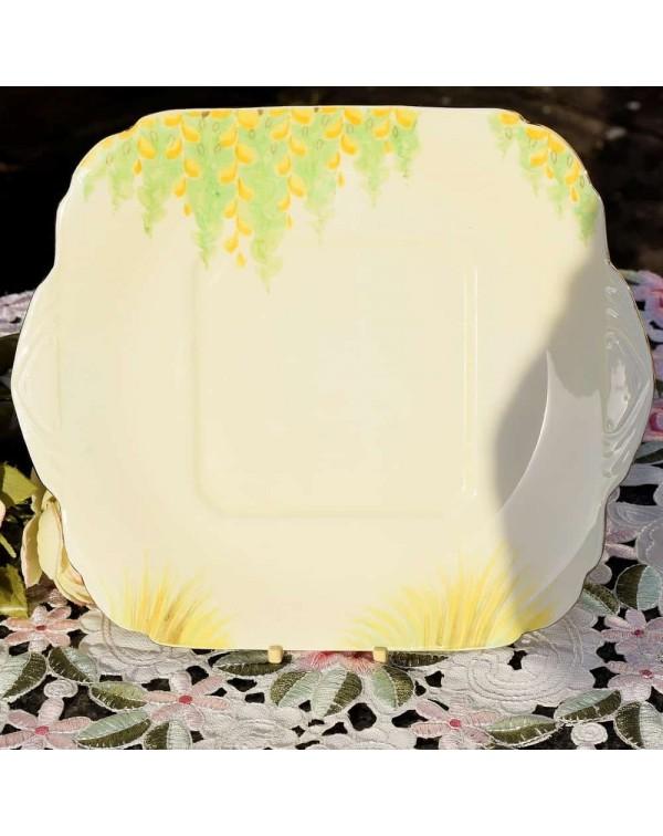 ROYAL GRAFTON FLORAL CAKE PLATE SET