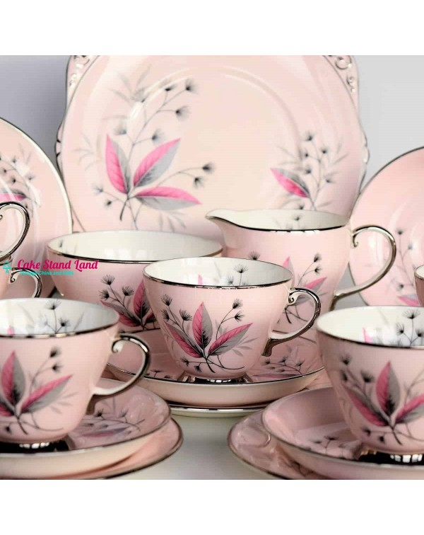 (SOLD) ROYAL GRAFTON PINK TEA SET