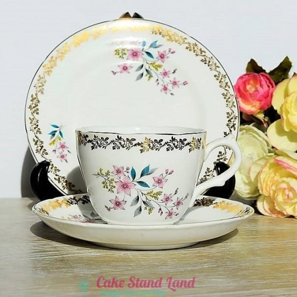 (SOLD) ROYAL GRAFTON FLORAL TEA TRIO