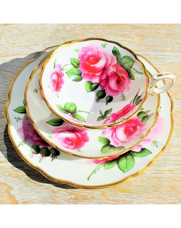 (OUT OF STOCK) HAMMERSLEY PINK ROSE TEA TRIO