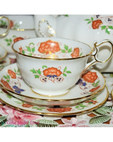 (OUT OF STOCK) HAMMERSLEY FLORAL TEA TRIO