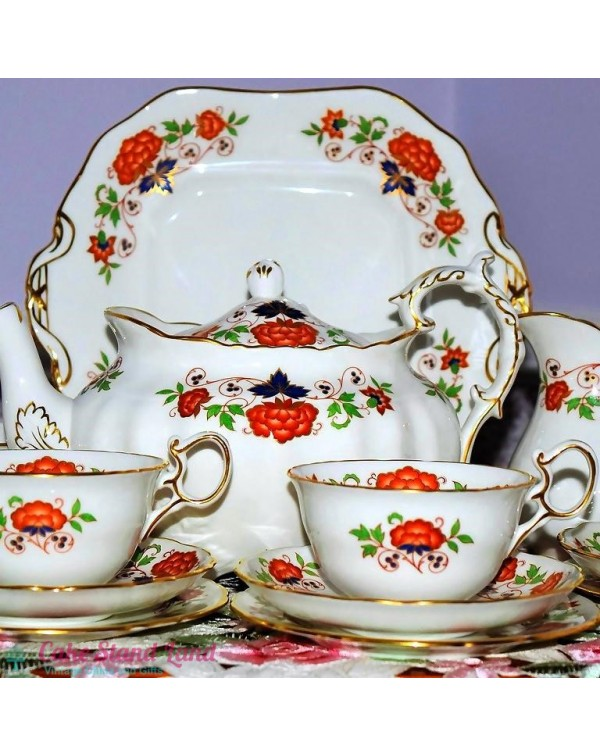 (OUT OF STOCK) HAMMERSLEY FLORAL TEA SET WITH TEAP...