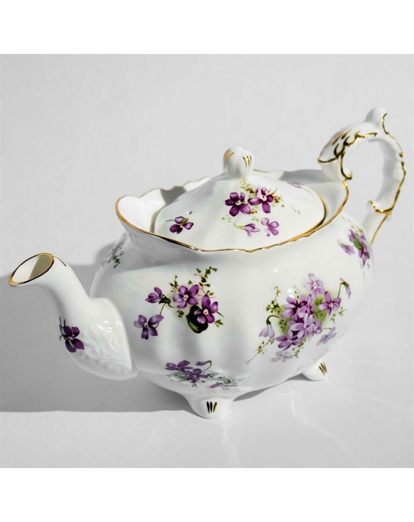 (SOLD) HAMMERSLEY VIOLETS LARGE TEAPOT 2.5 PINTS