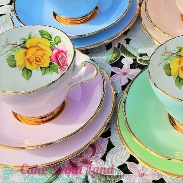 ( OUT OF STOCK) HARROBY TEA TRIO PINK