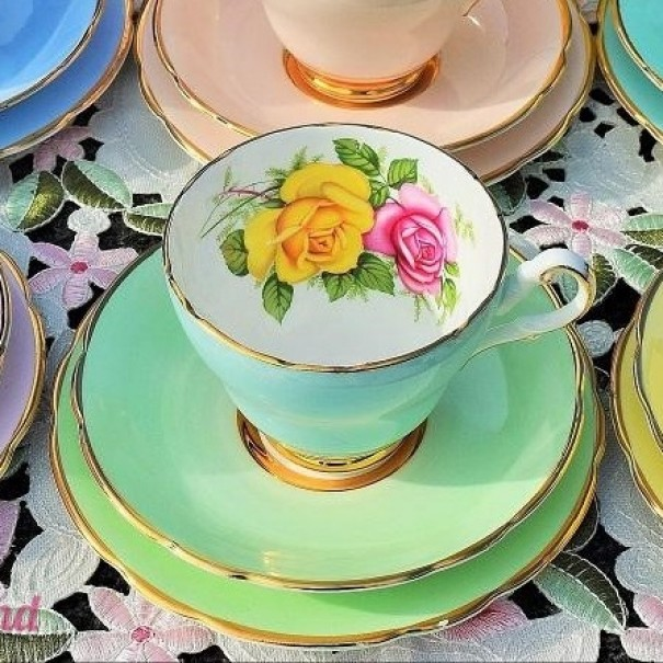 (OUT OF STOCK) HARROBY TEA TRIO MINT GREEN