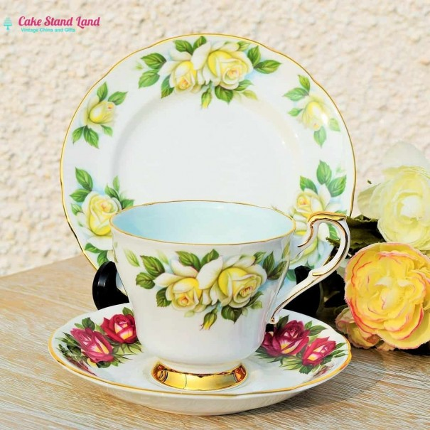 (OUT OF STOCK) HARRY WHEATCROFT TEA TRIO FAMOUS ROSES