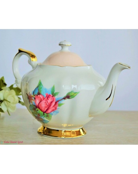 (OUT OF STOCK) PARAGON HARRY WHEATCROFT ROSES RENDEZVOUS TEAPOT