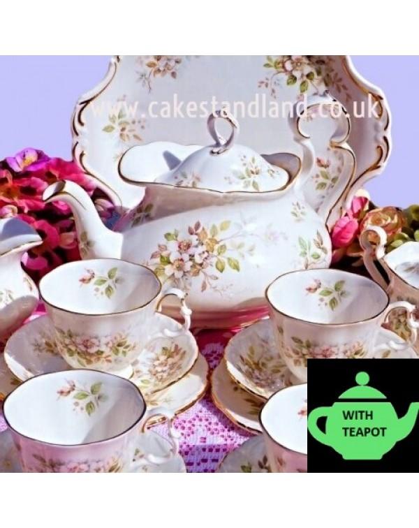 (SOLD) ROYAL ALBERT HAWORTH TEA SET